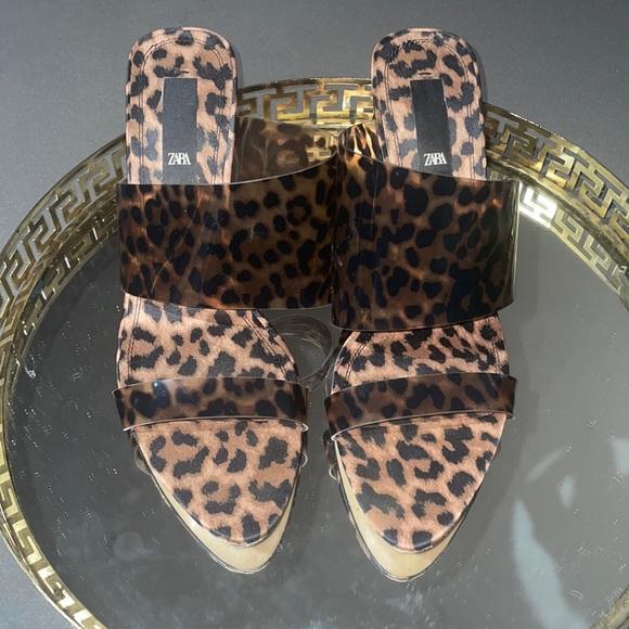 Cheetah brown sandals
